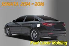 Chrome Fuel Gas Tank Door Cap Cover B354 1Pcs for Hyundai SONATA LF 2014 ~ 2017