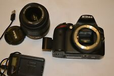 NIKON D3200 DSLR CAMERA KIT WITH NIKKOR LENS CHARGER BATTERY