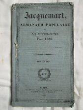 JACQUEMART, ALMANACH POPULAIRE DE LA CÔTE D'OR POUR 1836.