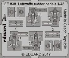 Eduard Zoom FE838 1/48 Luftwaffe Pedales del timón