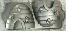 Nordic Ware Cast Aluminum 10 Cup Beehive Cake Baking Pan Silver LDS USA