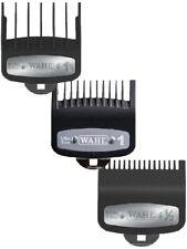 3 pcs Wahl Premium Cutting Guides Guards Metal Clip #1/2, #1, #1 1/2 Attachments