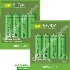 8 x GP ReCyko AA 1300 mAh Baterías NiMh Recargables estancia cargado HR6