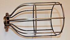 Antique Brass Metal Steel Bulb Cage Industrial Lights Pendant Lamp Guard 10517J