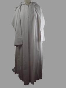 Aube de communion mixte Manches longues en polyester et coton, taille 135.
