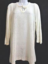 1f8dcb977d Dressbarn DB Womens Ivory Crochet 3 4 Sleeve Sweater Top Size 2x