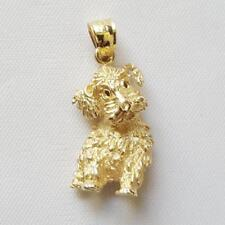 14k Yellow Gold PUPPY DOG Pendant / Charm, Made in USA