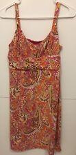 Ann Taylor Loft women Sleeveless Dress Size 8 petites Floral paisley Tank light