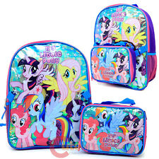 My Little Pony Large Backpack with Detachable Lunch Bag Combo