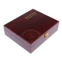 Münzsammelbox Münzbox Münzetui Münzsammlung für Holzmünzen 21,8x18,2x6,8cm