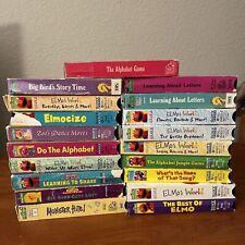 Lot of 19 Sesame Street VHS Tapes Elmo's World Vintage Learning Random House
