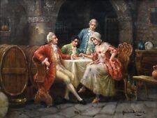 Sedlacek, Stephan (1868 - 1936 Austria) Gorgeous Genre Scene Oil Painting