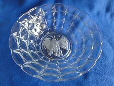 Indiana Glass Bowl Constellation with Etched Grapes in Bottom #0753