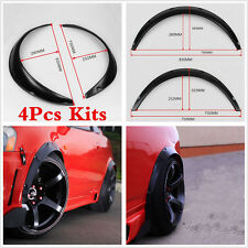 4Pcs Black Fender Flares Flexible Fender Durable Polyurethane Universal For Cars
