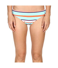 Tommy Bahama Blue TB Rugby Stripe Wide Band Hipster Bikini Bottom Size S/P 1808