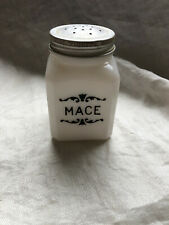 McKee Tipp City Dove Franks Tea Milk Glass Mace Shaker