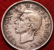 1944 Great Britain 6 Pence Silver Foreign Coin