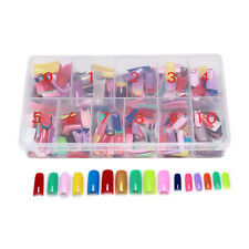 540PCS False Acrylic Gel French Nail Art Half Tips WITH BOX colorful  Nail Tips