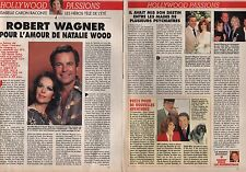 Coupure de presse Clipping 1992 Richard Wagner & Natalie Wood (2 pages)
