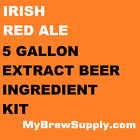 Irish Red Ale Homebrew 5 Gallon Beer Extract Ingredient Kit - My Brew Supply