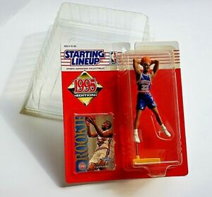 1995 Topps Starting Lineup GRANT HILL Action Figure w/ Rookie Card & Protector