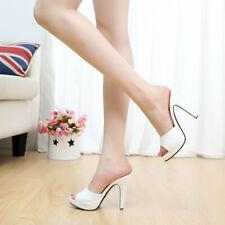 Women Shoes Fashion Summer Stiletto High Heel Sexy Slipper Peep Toe Sandals Mule