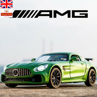 1:32 Alloy Benz AMG GT GTR Pull Back Diecast Car Model With Sound Light Toys