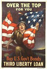 Buy U.S. Gov't bonds, Third Liberty Loan 1918 world war poster modern art prints