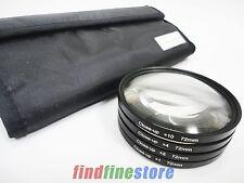 72mm 72 close-up macro +1 +2 +4 +10 close up lens filter kit set for DSLR SLR