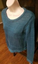 NEW FULL TILT SIZE XL TURQUOISE SCOOP NECK CROP SWEATER TOP