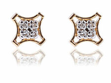 Stunning 0.17 Cts Round Brilliant Cut Natural Diamonds Stud Earrings In 18K Gold