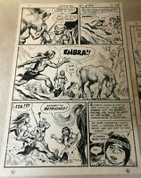 ANTHRO #5 original art 1969 CHASES SEXY GIRLFRIEND DC CAVEMAN Post Art