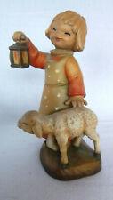 "Anri Ltd Ed 686/1500 Ferrandiz 6.25"" Leading The Way Girl Wood Carving Figurine"
