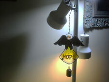 Angel Wind Chime-Yellow Dress Is Glass With Hope On It-Metal & Glass