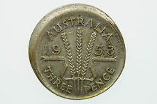1953 Threepence Variety Error Mis-Strike in Very Fine Condition