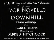 DiscOnly DVD Alfred Hitchcock's DOWNHILL 1927 Silent Film DRAMA