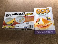 EGG AND OMELET MICROWAVE COOKER WITH RECIPE COOKBOOK
