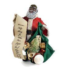 Possible Dreams Clothtiques Black Santa Christmas Figure