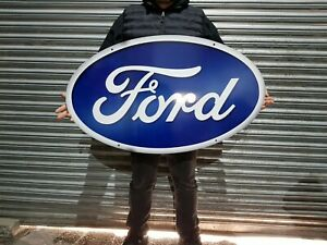 """Ford  XXL 40"""" x23"""" Oval  Metal Sign. Man Cave/ Garage/ Shed."""