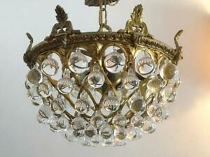 300b Vintage 20s 30s Ceiling Light Lamp fixture hall closet porch 1 of 2