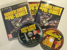 2 x PLAYSTATION 3 PS3 GAMES BORDERLANDS THE PRE-SEQUEL! COMLETE + BL 2 GAME DISC