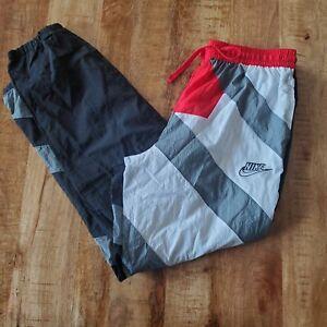 Nike Woven Throwback Windbreaker Pants Black/Grey/Red/White Men Large CK6625-010