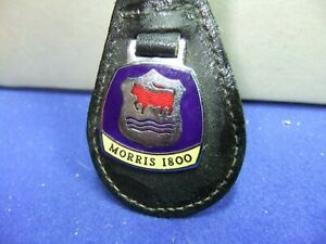 badge motor car keyring MORRIS 1800 advert motoring leather enamel 60s 70s