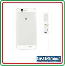 BACK COVER CARCASSA HOUSING SCOCCA POSTERIORE HUAWEI ASCEND G7 COLORE BIANCA WHI