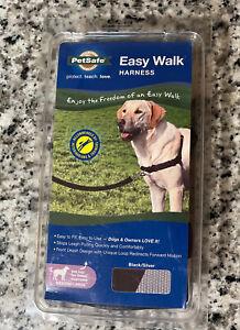 Petsafe EASY WALK No-Pull Dog Harness Size Medium / Large Black & Silver NEW $31