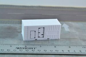 Herpa 1:87 20' Power Generator Container White HO Scale
