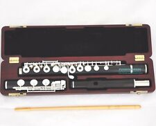 African Grenadilla Black Wooden Flute 17 holes • Silver Flute Low B foot W/ case