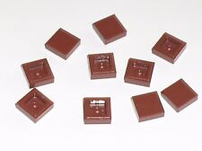 10 x plaque plate tile ref 3070b RedBrown LEGO / 10182 10194 10196 10152 10213..