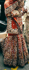 Bridal Indian/Pakistani Rustic Red Contemporary Lengha Elegant Piece Size:10