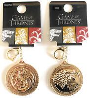 Original HBO Game of Thrones Schlüsselanhänger Metall Goldfarben Schmuck Häuser